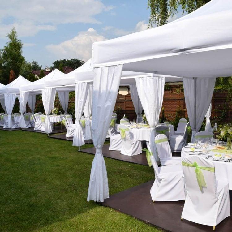 Ślub i przyjęcie weselne w ogrodzie, Zaborów
