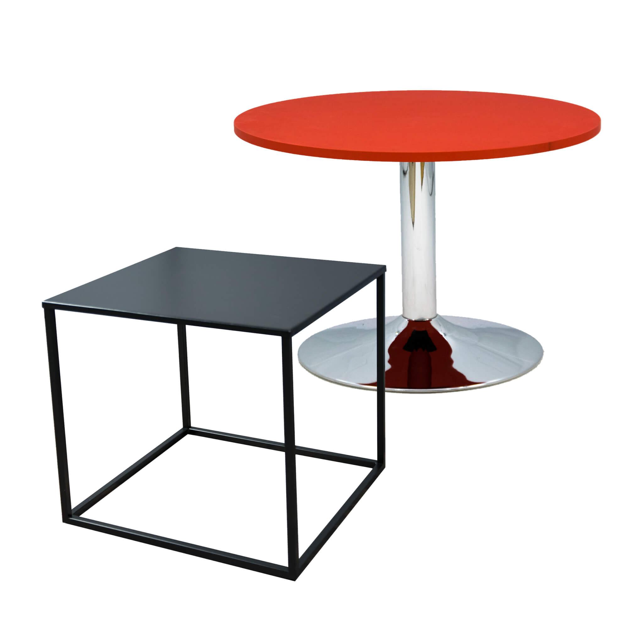 Wynajem stolików - niskich