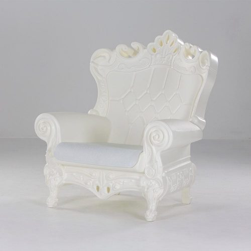 FOTEL THRONE  WHITE